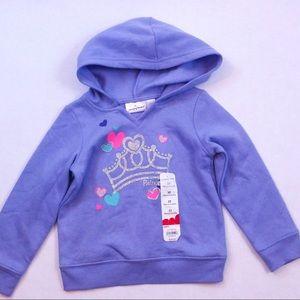 Sweet princess crown glitter soft hoodie size 3T